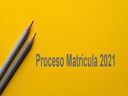 Circular Procedimiento De Matrícula 2021