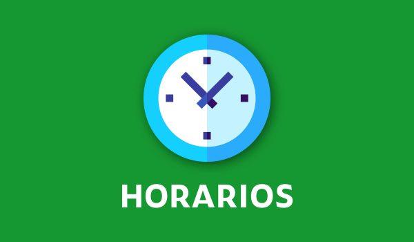 HORARIOS PRESENCIALES 1°A 6°BÁSICO