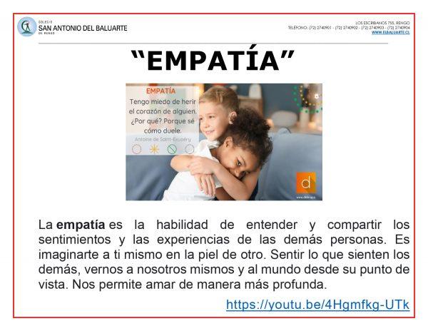 "Virtud mes de agosto ""Empatía"""